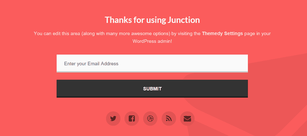 junctions footer widget