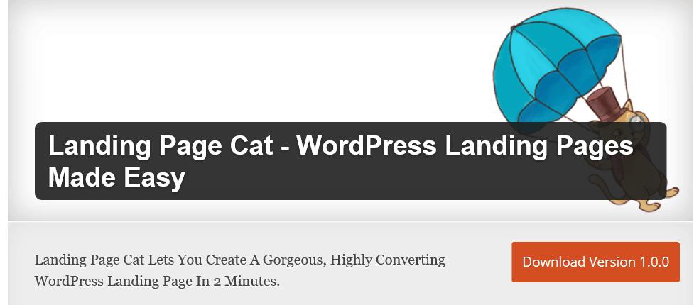 landing page cat