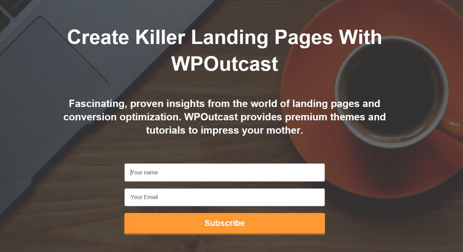 landing page mother