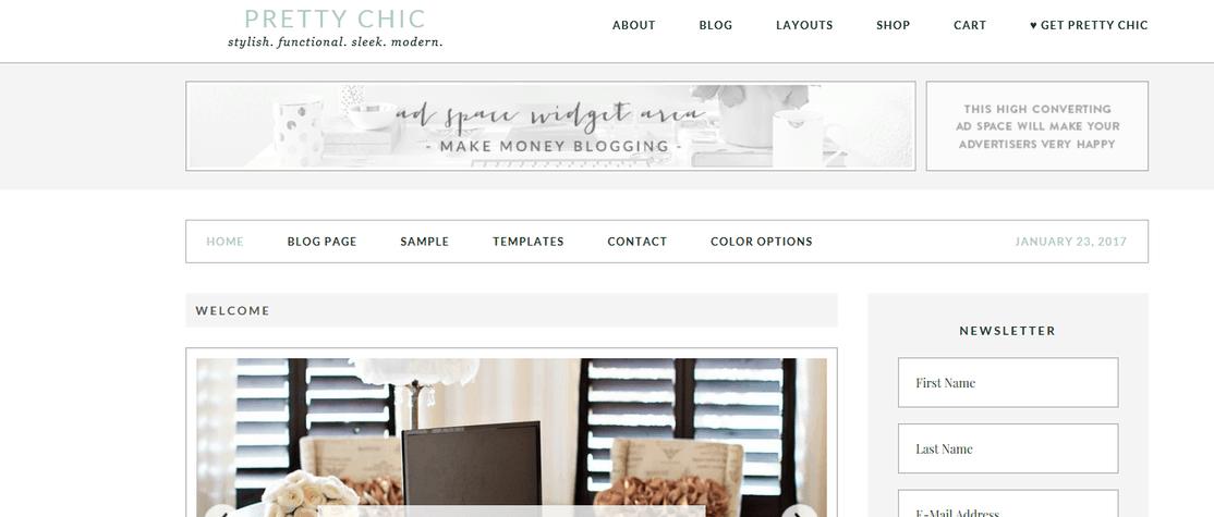 pretty chic homepage