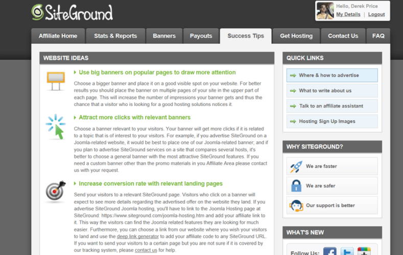 siteground success tips