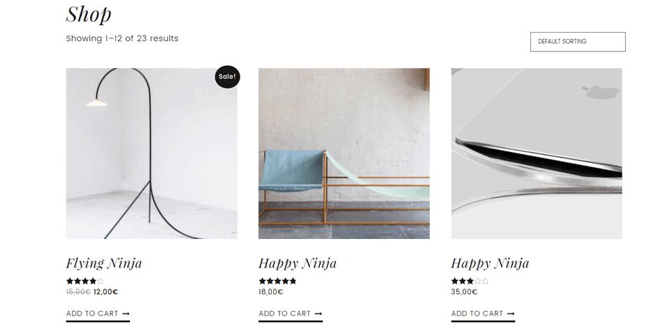 slush shop page