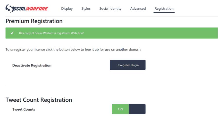social warefare registration