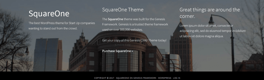 squareone footer
