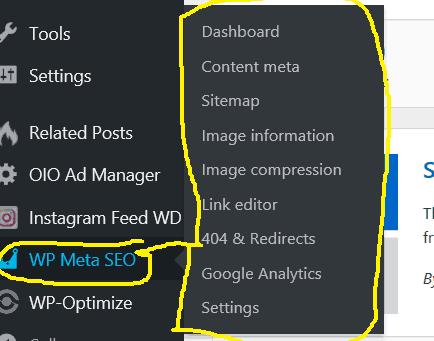 wp meta dashboard - yoast alternative