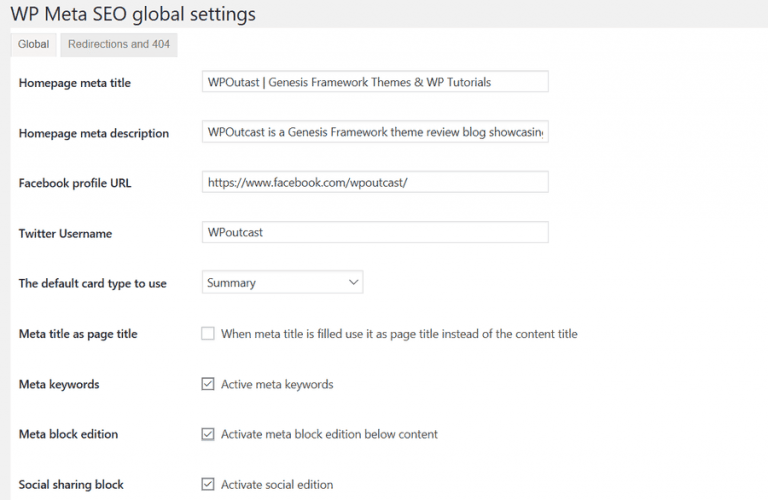 wp meta seo settings
