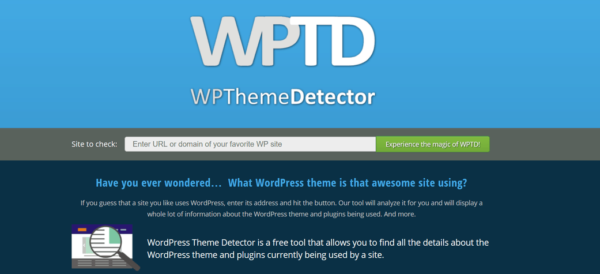 wptheme detector